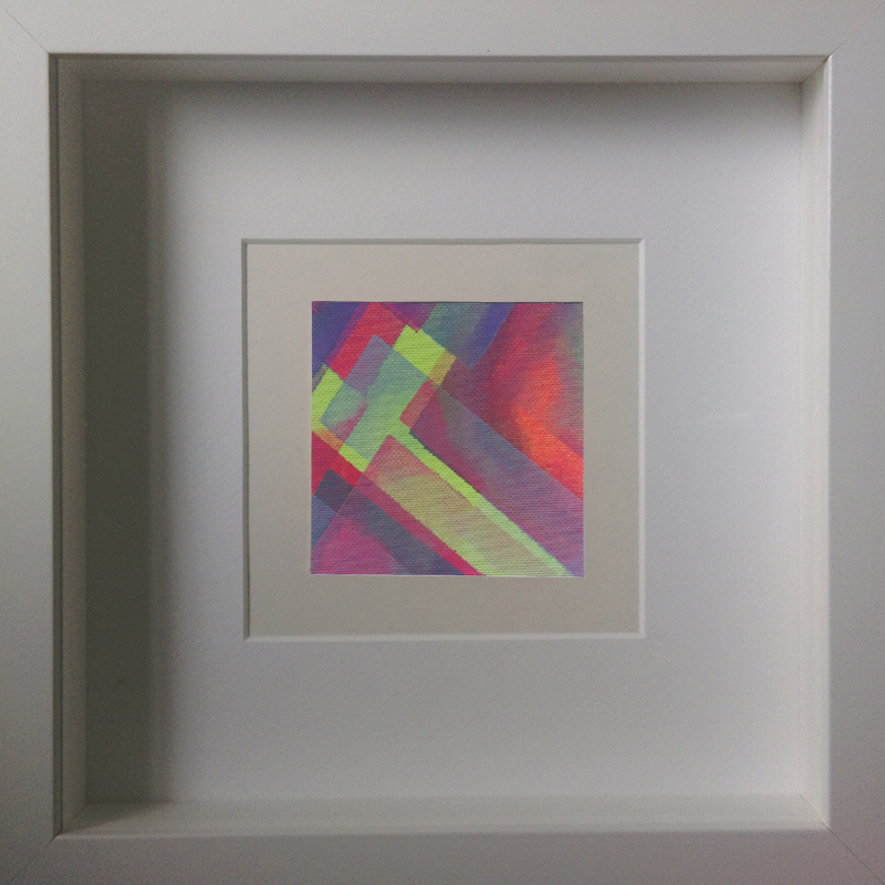Judith Valeria-Geometrische Abstraktion-Kleinlichter-12-8x8-Acryl auf Leinwand