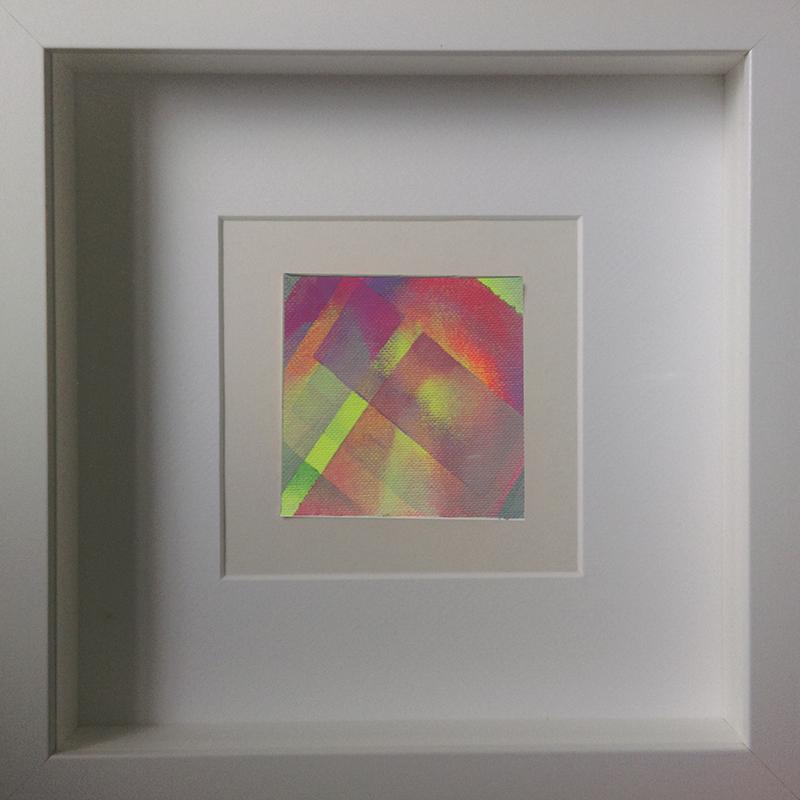 Judith Valeria-Geometrische Abstraktion-Kleinlichter-3-8x8-Acryl auf Leinwand