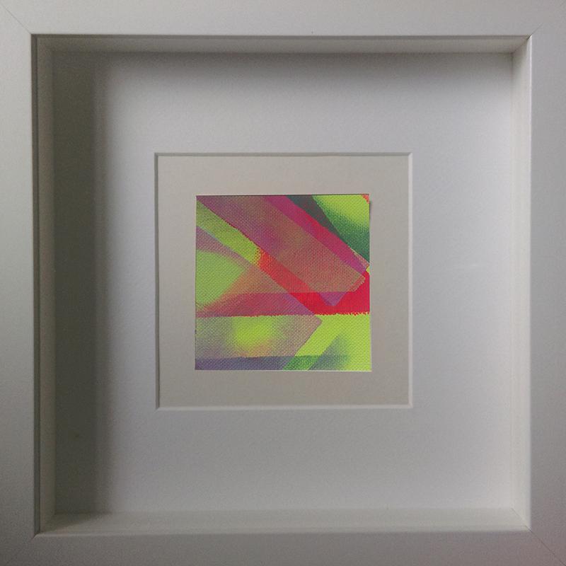 Judith Valeria-Geometrische Abstraktion-Kleinlichter-4-8x8-Acryl auf Leinwand