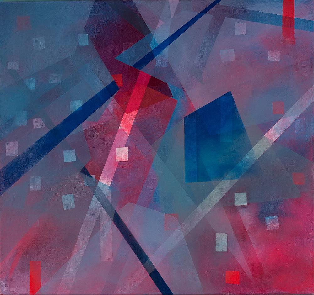 judithvaleria-geometrische Abstraktionen-Acryl auf Leinwand-50x50-No.5